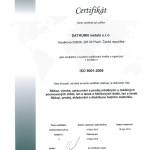 ISO certifikát- Čj
